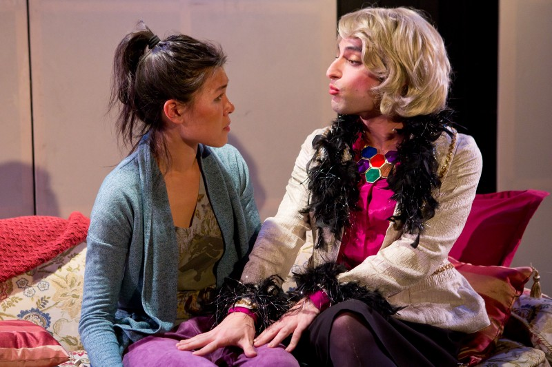 Rachel Lin as Melissa Rivers, Brett Epstein as Joan Rivers. (Photo: Hunter Canning)