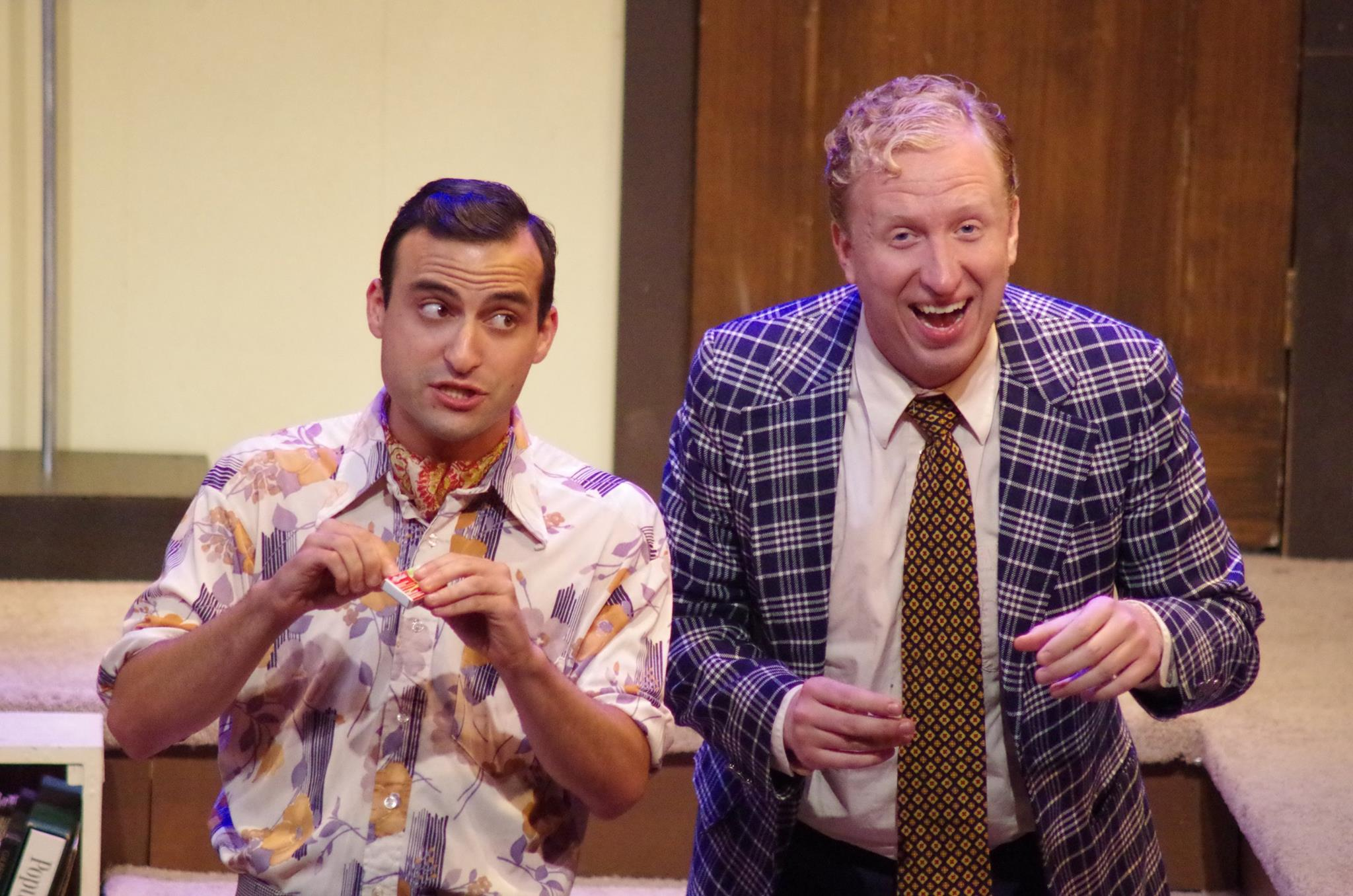 Brett Epstein as Harold in BLACK COMEDY (photo: Rich Miller)