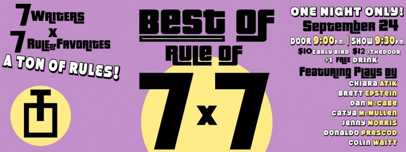 BEST OF RULE OF | Sep 24 | 9:30p | The Tank